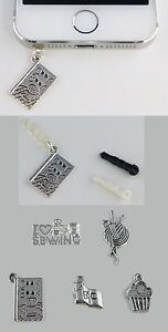 Knitting-Sewing-Cooking-Phone-Charm-DS-Ipod-iPad-Anti-Dust-Plug-Dangle-Various