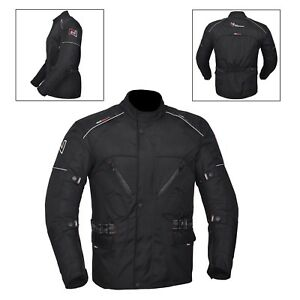 neri-da-uomo-giacca-da-Moto-Impermeabile-Tessuto-CE-rinforzato