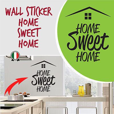 """WALL STICKER  Adesivo murale frase di Benvenuto """"HOME SWEET HOME"""""""