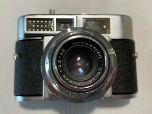 Voigtlander-Color-Skopar-1-2-8-50-Prontor-SLK-V-Objektiv-amp-Vitomatic-II-Kamera