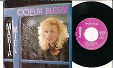 "MARIA MIEL 45 TOURS 7"" BELGIUM COEUR BLESSE"