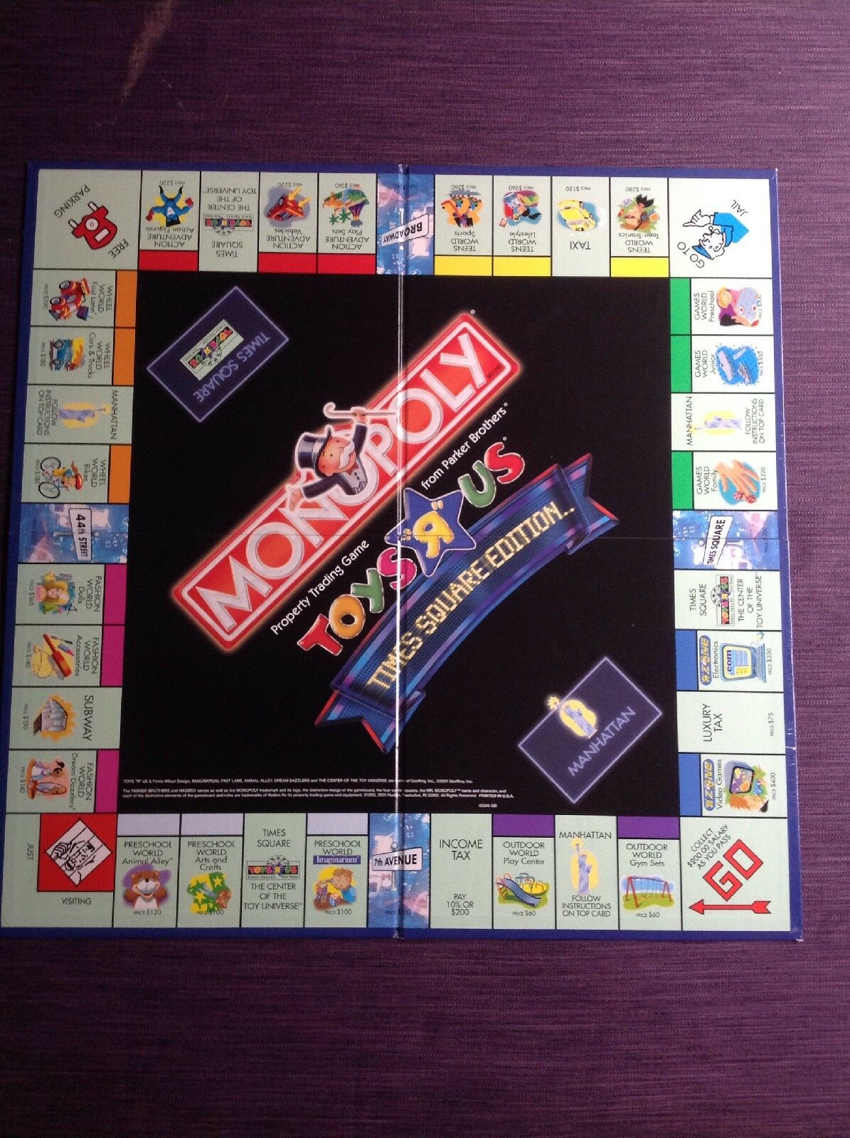 Monopoly Toys R Us Times Square Square Square Edition - 2001 Parker Bredhers Board Game 0de016