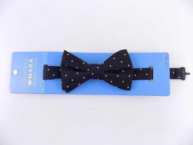 d2fab6fab8ce Mens Countess Mara Stripe Pre-tied Plaid Black White Bow Tie for ...