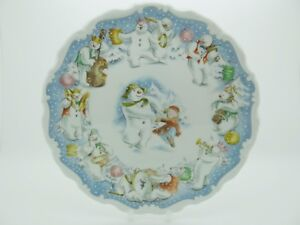 Dance-Of-The-Snowman-Royal-Doulton-Plate-Excellent-Free-Gift-Box