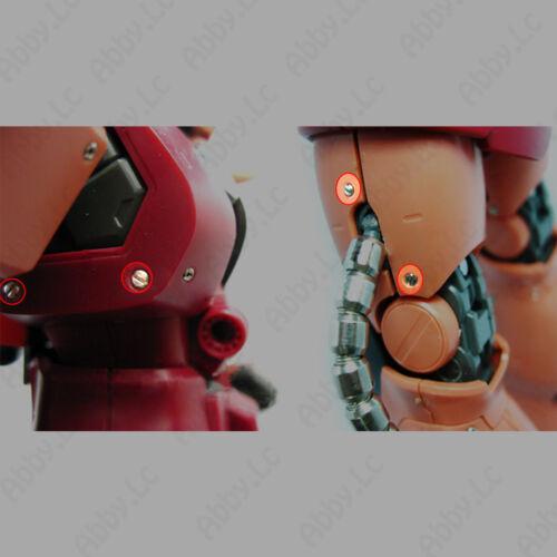 30Pcs Metal Armor Detail-up Φ2.0 mm Screws Parts For RG MG HG Gundam Model Kit