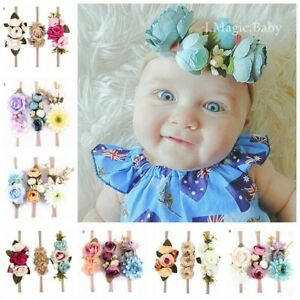 Baby-Kids-Flower-Hair-Garland-Crown-Headband-Floral-Wreath-Hairband-AU-Set-of-3