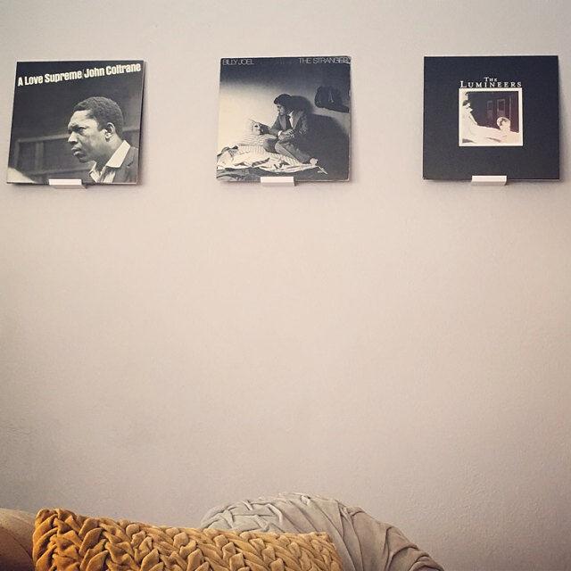 Vinyl Record Wall Mount Mount Mount Display - 3D Printed - Apartment Friendly c5d84d