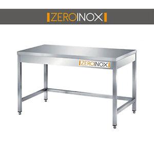 Tavolo Acciaio Inox.Dettagli Su Tavolo Acciaio Inox Aisi304 90x60x85 Ristorazione