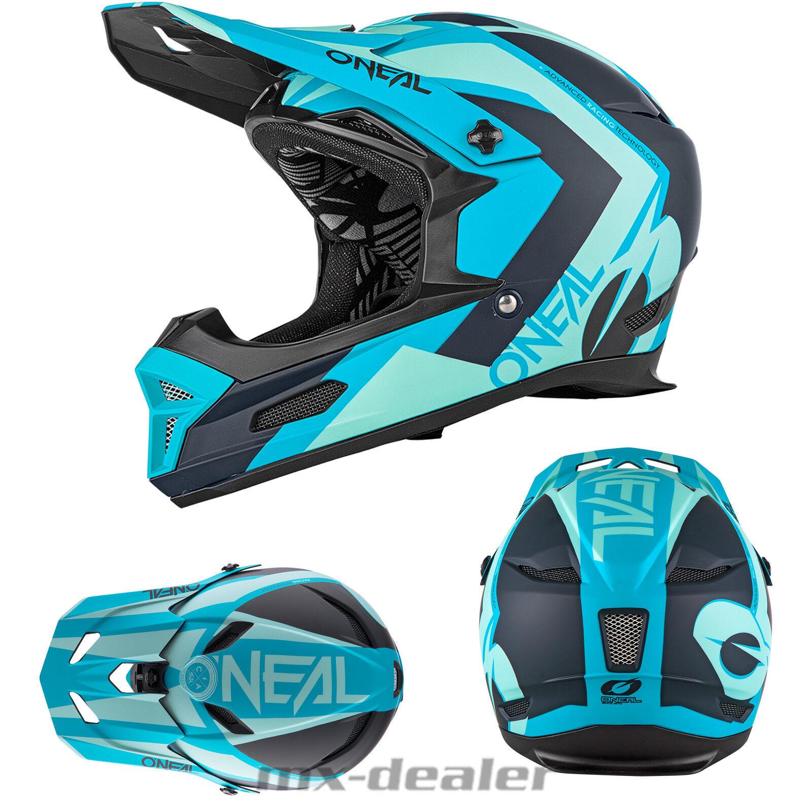 O'Neal 19 Fury Rl Hybrid bluee Petrol MTB Dh Downhill Helmet Freeride Go Pro