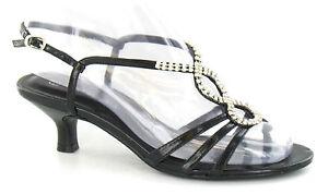 Spot-On-F1579-Ladies-Black-Slingback-Evening-Heeled-Sandals