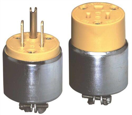 Leviton 606978 2-Pole Commercial Grade Armored Rubber Male Plug,Straight Blade