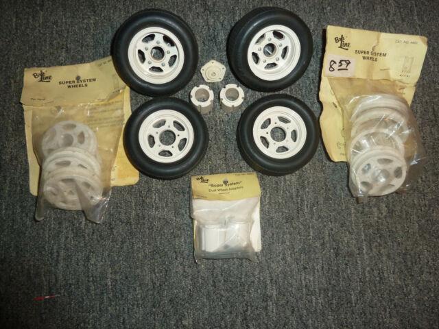 Vintage RC Car Marui Big Bear Rear Wheel Hub Bru-Line Super System Wheel 4202
