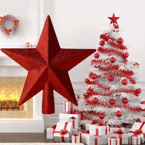 Stern Auf Weihnachtsbaum.Weihnachtsbaum Stern Weihnachtsdekoration Christbaumspitze Stern Rot