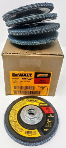 "Dewalt DW8334 5/"" x 5//8/""-11 80g type 29 HP Flap Discs Box of 5"