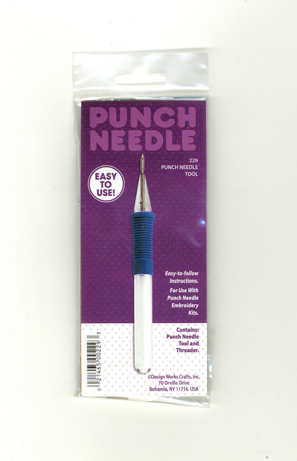 1, Fоur Paсk Threaders Tool Embroidery Punch Needle White