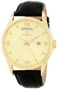 Invicta-Mens-Vintage-Collection-Quartz-Stainless-Steel-Case-Leather-Strap-Watch