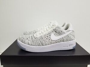 686bc1403b9f80 WMNS NIKE AIR FORCE 1 FLYKNIT LOW WHITE WHITE-BLACK 820256 103