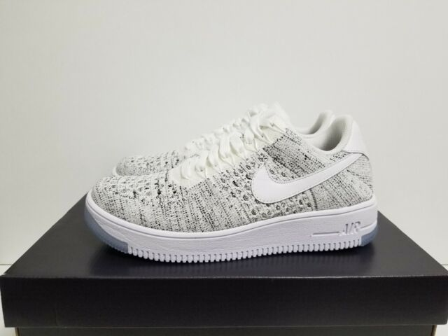 wholesale dealer 028d9 b69f8 Nike Af1 Air Force 1 Flyknit Low White Grey Womens Size 7.5 820256-103