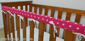 Cot Rail Cover Unicorns Pink Crib Teething Pad  x 1