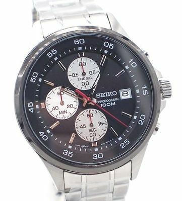 Seiko Quartz Chronograph Men's SKS483P1 Stainless Steel Date Watch