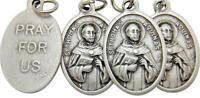 Mrt 4 Lot St Thomas Aquinas Patron Saint Medal Silver Plate Gift 3/4 Italy