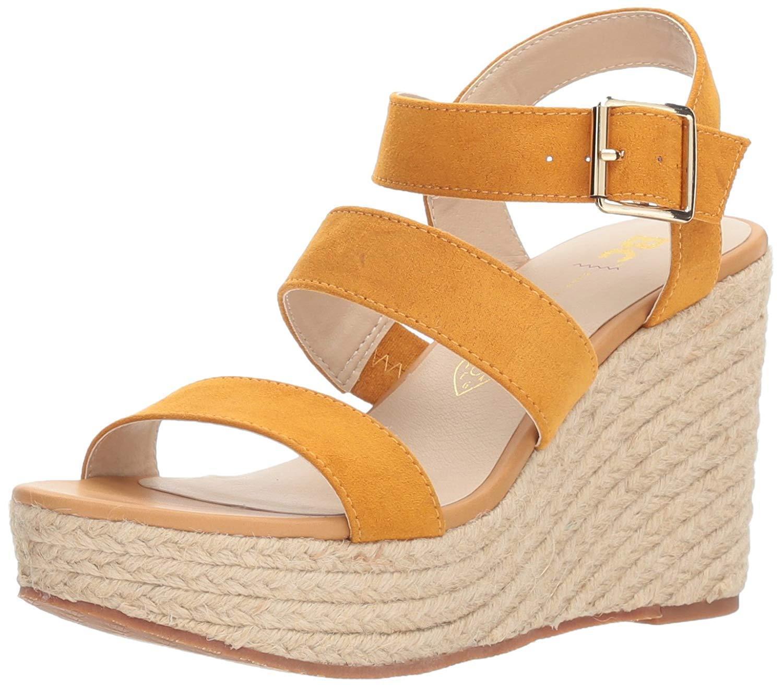 BC  Footwear Frauen Platform Sandalen Gelb Groesse 10   BC /41.5 EU 01dbe1