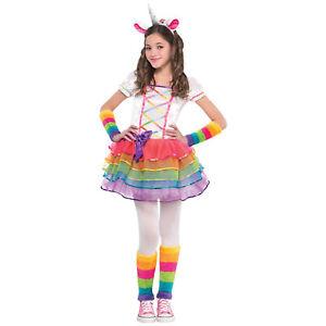 Madchen Kinder Kostum Einhorn Gr 104 110 134 4tlg Karneval