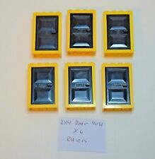 4130 /& 4131 Red Door x2 Lego Door Frame and Door 2x4x5 Yellow Frame