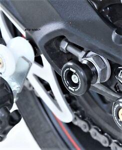 R/&G BLACK REAR WHEEL SPINDLE SLIDERS HUSQVARNA NUDA 900 2012-2013