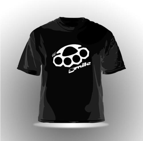 "Eaks ® t-shirt Hommes /""Brass Knuckle 2/"" Noir poing AMERICAIN BIKER gangster Hip Hop"