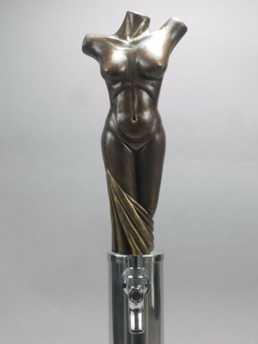 """ BRONZE LADY"" NUDE WOMAN'S TORSO BAR BEER TAP HANDLE DIRECT FROM RON LEE"