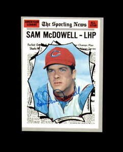Sam McDowell Hand Signed 1970 Topps All Star Cleveland Indians Autograph