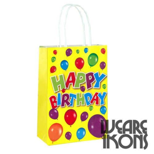 Recyclable Birthday Loot Happy Birthday Party Bags Gift Bag With Handles
