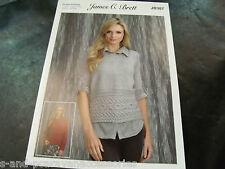 4a58442db13c9 James C Brett Double Knitting Pattern JB393 Sweater and Slipover