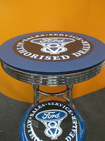 Ford V8 Bar Table Only - Retro Design