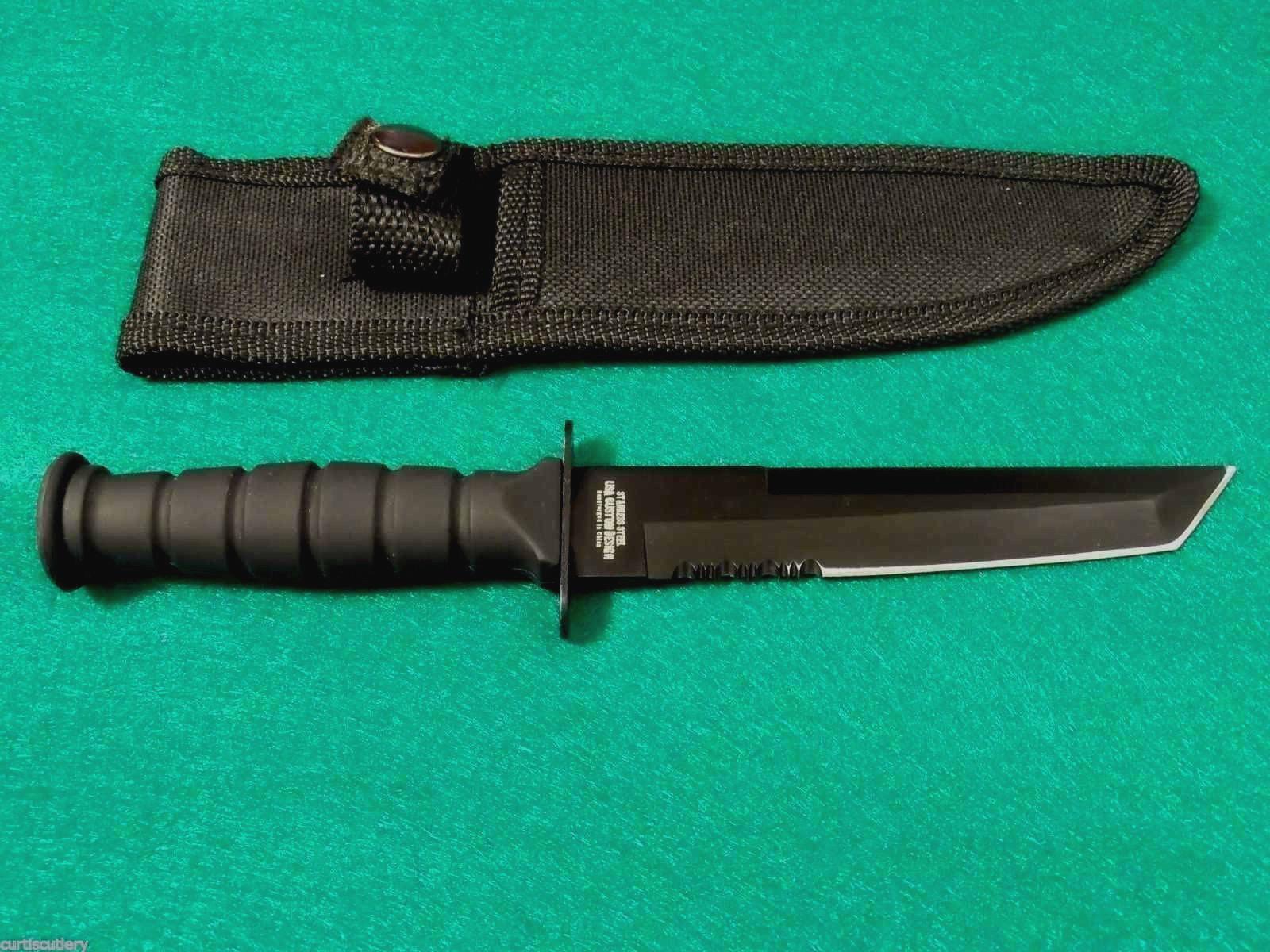 Survivor Messer Outdoormesser Fixed Blade Tanto schwarz Campingmesser HK-1023TN