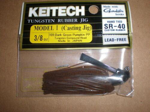 Details about  /Keitech Rubber Jig Model I 3//8 oz Dark Green Pumpkin New Casting Jig