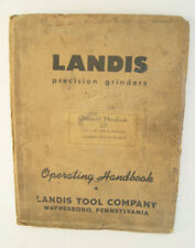 Landis Precision Grinders Machine Manual Operating Handbook Type H