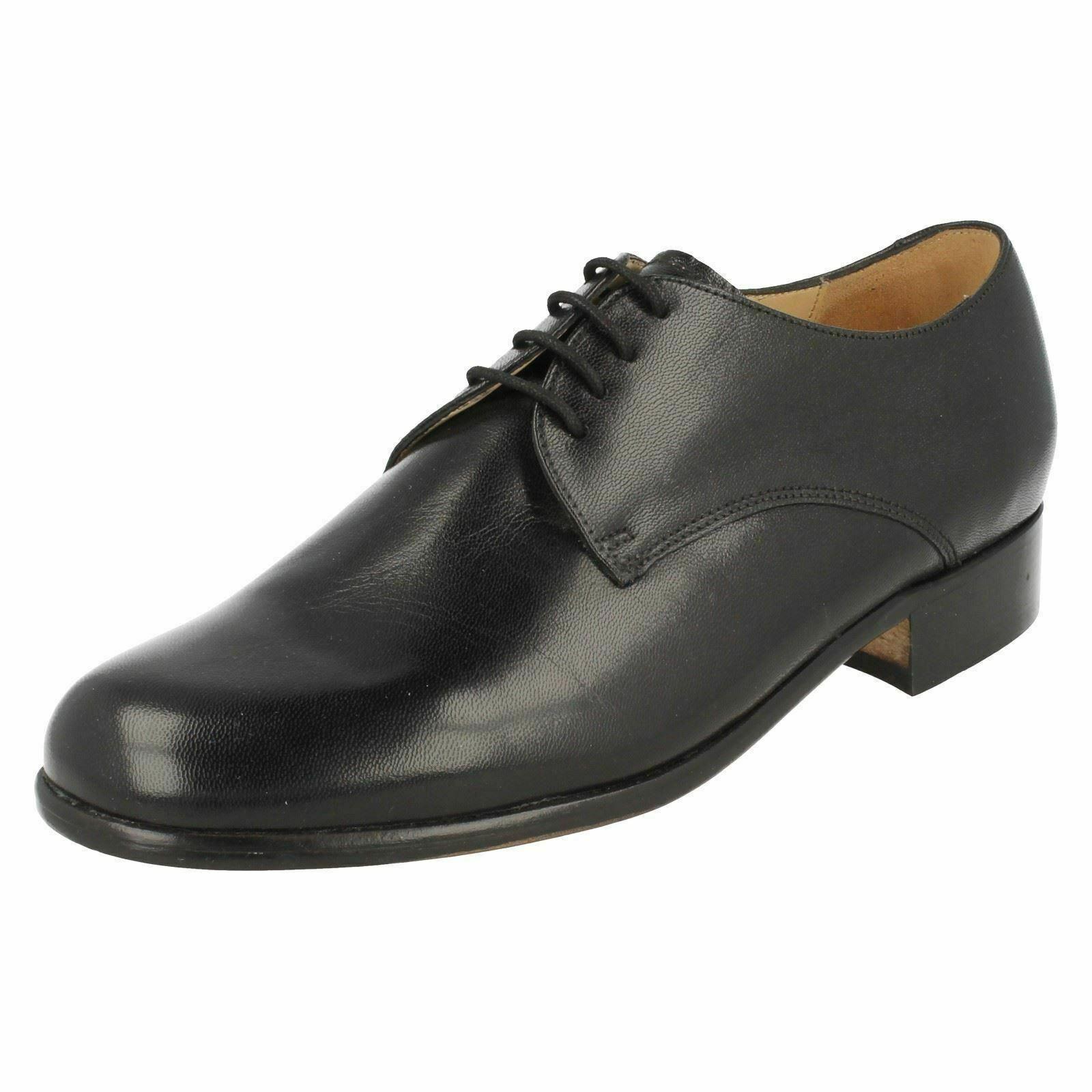 Homme Noir Formelles Lacet GRENSON Cuir Formelle Chaussures Style-Temple MEADS