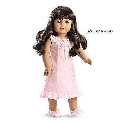 American Girl Samantha's Nightgown BeForever NIB Pink Slippers