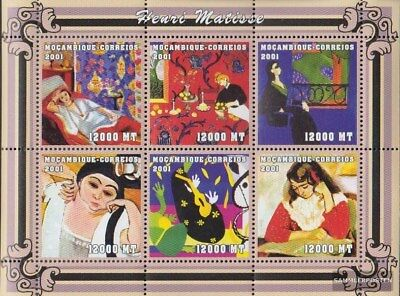 Stamps Africa Never Hinged 2001 Art 2019 New Fashion Style Online Lovely Mosambik 2109-2114 Sheetlet Unmounted Mint