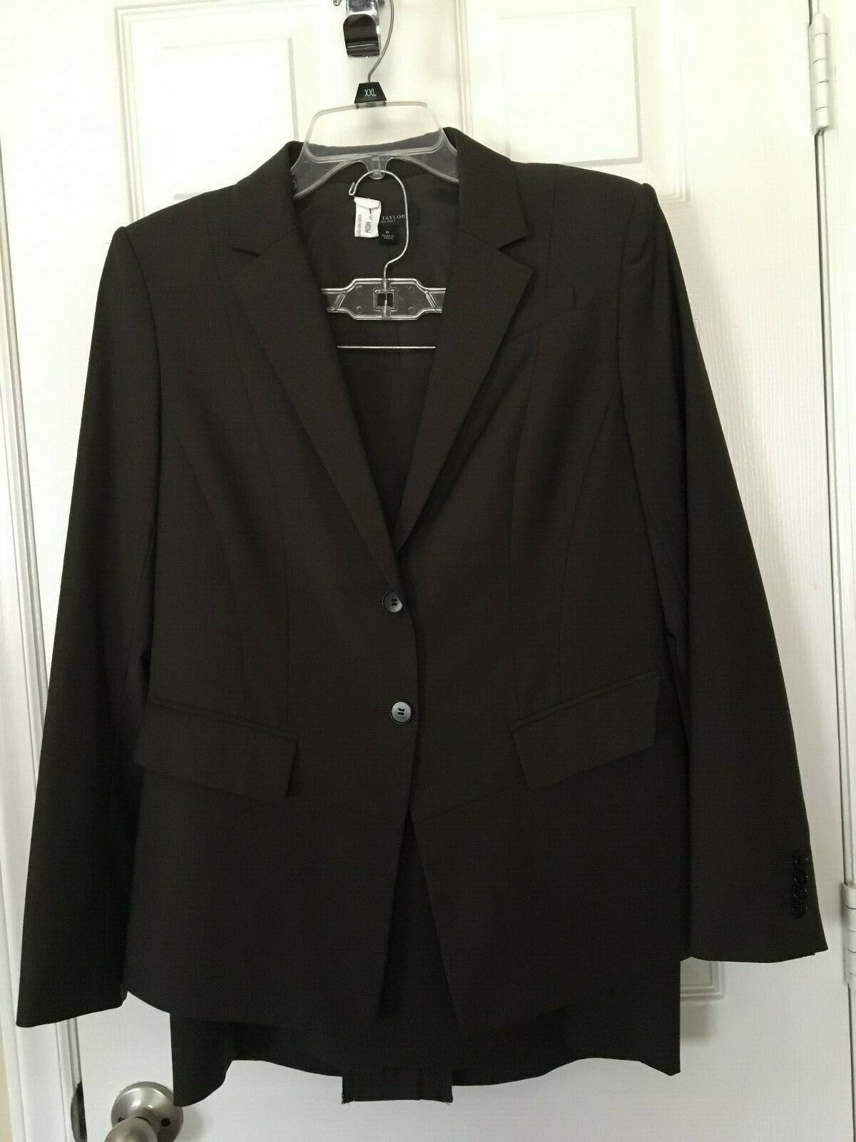 Womans Ann Taylor  Brown Mixed Sized Skirt Suit