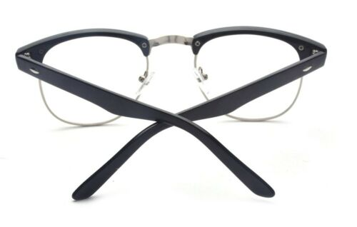 a5fdd5258587 3 of 5 Outray Vintage Retro Classic Half Frame Horn Rimmed Clear Lens  Glasses Silver