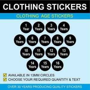 13mm Enfants Vêtements Taille Stickers