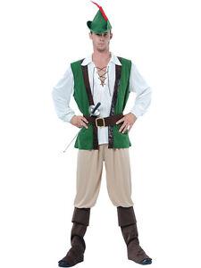 Caricamento dell immagine in corso Adulto-uomo-Robin-Hood-medievale-Peter- Pan-Costume- 7d89f96ed07b