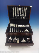 Trousseau by International Sterling Silver Flatware Service Set Dinner 53 Pieces