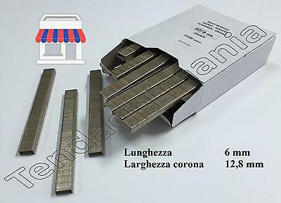 Punti Metallici stanox graffette 10000 pezzi aria compressa MM 6 mm