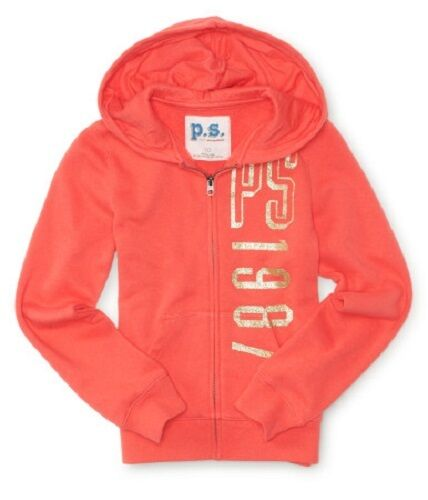 NWT PS AEROPOSTALE P.S.KIDS ZIP UP  HOODIE SWEATSHIRT FULL ZIP SIZES  8 10 12 14