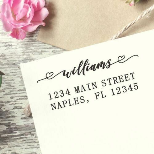 Custom Self-inking Return Address Stamp Self-ink Customized Calligraphy 031