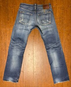 Prps-Barracuda-P47P09X-Straight-Leg-Distressed-Wash-Jeans-33-34-Japan